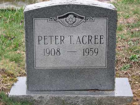 ACREE, PETER T - Boone County, West Virginia | PETER T ACREE - West Virginia Gravestone Photos
