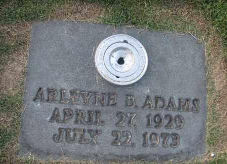 ADAMS, ARLEYNE B - Boone County, West Virginia | ARLEYNE B ADAMS - West Virginia Gravestone Photos
