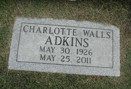 WALLS ADKINS, CHARLOTTE - Boone County, West Virginia | CHARLOTTE WALLS ADKINS - West Virginia Gravestone Photos