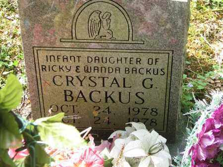 BACKUS, CRYSTAL G. - Boone County, West Virginia | CRYSTAL G. BACKUS - West Virginia Gravestone Photos
