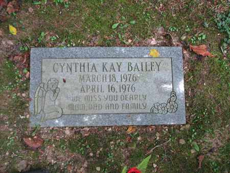 BAILEY, CYNTHIA KAY - Boone County, West Virginia | CYNTHIA KAY BAILEY - West Virginia Gravestone Photos