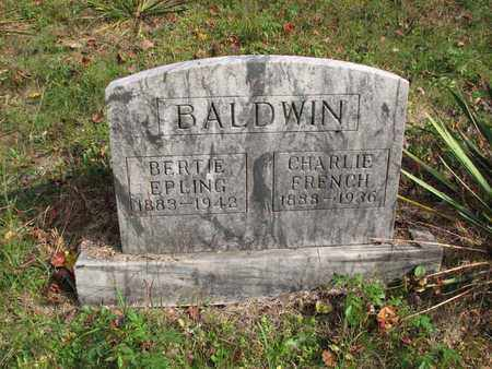 BALDWIN, CHARLES FRENCH - Boone County, West Virginia | CHARLES FRENCH BALDWIN - West Virginia Gravestone Photos