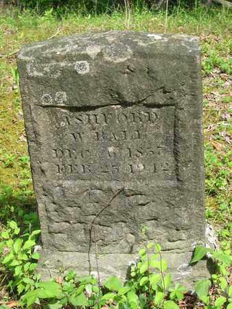 BALL, ASHFORD W - Boone County, West Virginia | ASHFORD W BALL - West Virginia Gravestone Photos