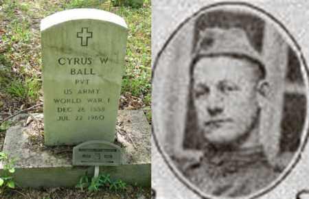 BALL, CYRUS W  (WW I ARMY) - Boone County, West Virginia | CYRUS W  (WW I ARMY) BALL - West Virginia Gravestone Photos
