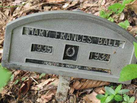BALL, MARY FRANCES - Boone County, West Virginia | MARY FRANCES BALL - West Virginia Gravestone Photos