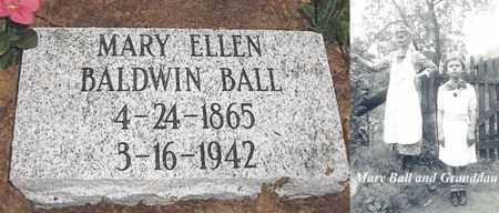BALDWIN BALL, MARY ELLEN - Boone County, West Virginia | MARY ELLEN BALDWIN BALL - West Virginia Gravestone Photos