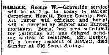 BARKER, GEORGE W - Boone County, West Virginia | GEORGE W BARKER - West Virginia Gravestone Photos