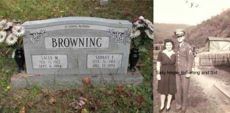 BROWNING, SALLY - Boone County, West Virginia | SALLY BROWNING - West Virginia Gravestone Photos