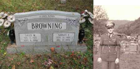 BROWNING (S SGT ARMY WWII), SIDNEY E. - Boone County, West Virginia | SIDNEY E. BROWNING (S SGT ARMY WWII) - West Virginia Gravestone Photos