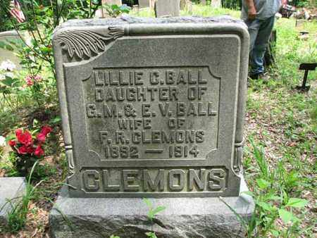 BALL CLEMONS, LILLIE C. - Boone County, West Virginia   LILLIE C. BALL CLEMONS - West Virginia Gravestone Photos