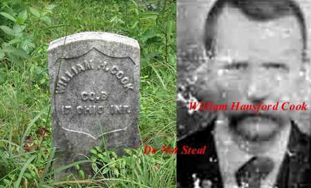 COOK ( CO B 17 OHIO INF), WILLIAM HANSFORD - Boone County, West Virginia   WILLIAM HANSFORD COOK ( CO B 17 OHIO INF) - West Virginia Gravestone Photos