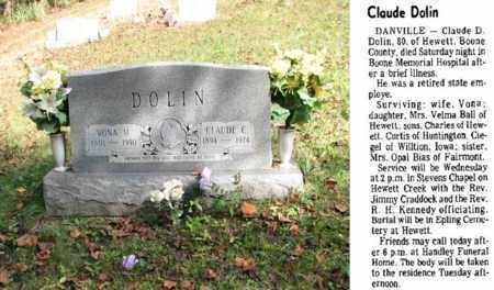 DOLIN, CLAUDE C. - Boone County, West Virginia | CLAUDE C. DOLIN - West Virginia Gravestone Photos