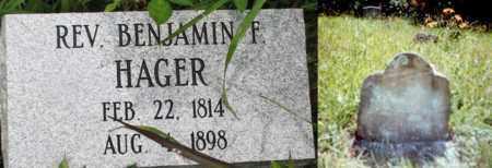 HAGER, (FAMOUS) REV BENJAMIN F. - Boone County, West Virginia | (FAMOUS) REV BENJAMIN F. HAGER - West Virginia Gravestone Photos