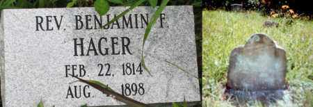 HAGER, (FAMOUS) REV BENJAMIN F. - Boone County, West Virginia | (FAMOUS) REV BENJAMIN F. HAGER - West Virginia Gravestone Photos
