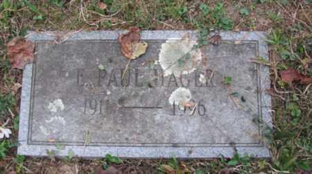 HAGER, ERNEST PAUL - Boone County, West Virginia | ERNEST PAUL HAGER - West Virginia Gravestone Photos
