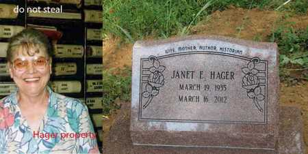 HAGER, JANET - Boone County, West Virginia | JANET HAGER - West Virginia Gravestone Photos