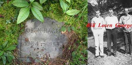 HAGER, LOREN BROUGE - Boone County, West Virginia   LOREN BROUGE HAGER - West Virginia Gravestone Photos