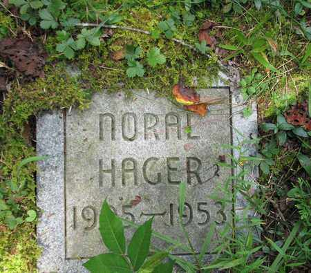 HAGER, NORAL - Boone County, West Virginia   NORAL HAGER - West Virginia Gravestone Photos