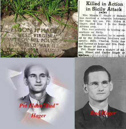 "HAGER PVT (WW II), ELDON HAROLD ""BUD"" - Boone County, West Virginia | ELDON HAROLD ""BUD"" HAGER PVT (WW II) - West Virginia Gravestone Photos"
