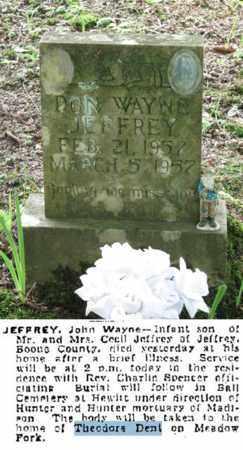 JEFFREY, DON WAYNE - Boone County, West Virginia | DON WAYNE JEFFREY - West Virginia Gravestone Photos
