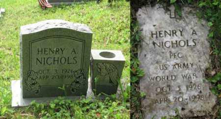 NICHOLS (ARMY WW II), HENRY A - Boone County, West Virginia   HENRY A NICHOLS (ARMY WW II) - West Virginia Gravestone Photos