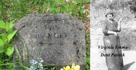 DENT PATRICK, VIRGINIA EMMA - Boone County, West Virginia | VIRGINIA EMMA DENT PATRICK - West Virginia Gravestone Photos