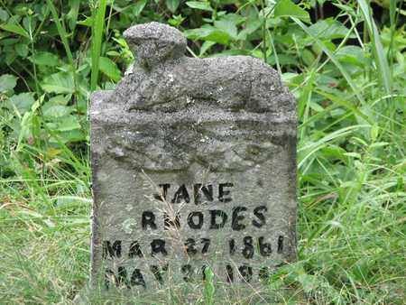 RHODES, JANE - Boone County, West Virginia | JANE RHODES - West Virginia Gravestone Photos