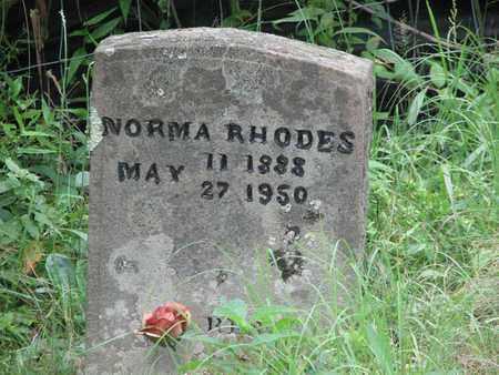 RHODES, NORMA - Boone County, West Virginia | NORMA RHODES - West Virginia Gravestone Photos