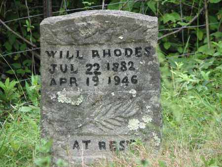 RHODES, WILLIAM  (WILL) - Boone County, West Virginia   WILLIAM  (WILL) RHODES - West Virginia Gravestone Photos