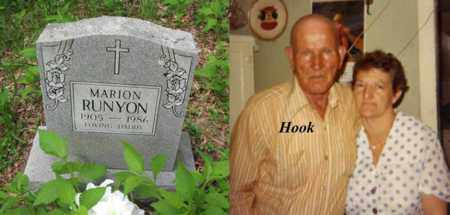 "RUNYON, MARION ""HOOK"" - Boone County, West Virginia 