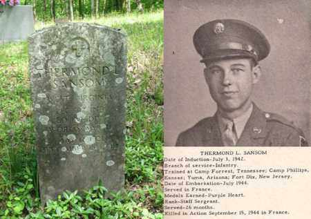 SANSOM (WW II ARMY INF), THERMOND LESLIE - Boone County, West Virginia   THERMOND LESLIE SANSOM (WW II ARMY INF) - West Virginia Gravestone Photos