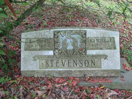 STEVENSON, JOHN D - Boone County, West Virginia | JOHN D STEVENSON - West Virginia Gravestone Photos