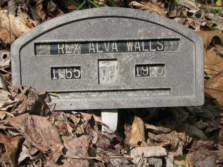 WALLS, REX ALVA - Boone County, West Virginia | REX ALVA WALLS - West Virginia Gravestone Photos