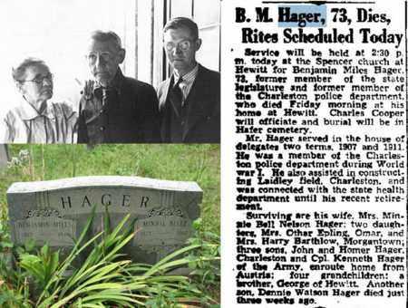 HAGER, BENJAMIN MILES - Boone County, West Virginia | BENJAMIN MILES HAGER - West Virginia Gravestone Photos