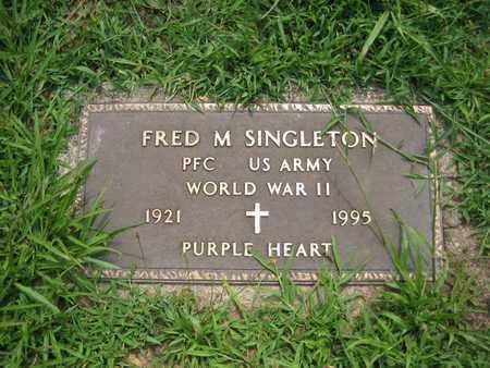 SINGLETON (VETERAN WWII), FRED M - Braxton County, West Virginia   FRED M SINGLETON (VETERAN WWII) - West Virginia Gravestone Photos