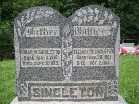 SINGLETON, URIAH WASHINGTON - Braxton County, West Virginia | URIAH WASHINGTON SINGLETON - West Virginia Gravestone Photos