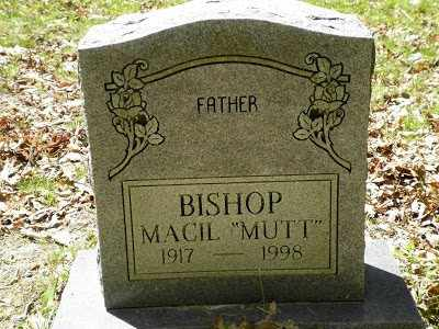 "BISHOP, MACIL ""MUTT"" - Clay County, West Virginia 
