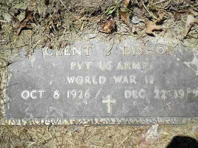 BISHOP (VETERAN WWII), CLENT J - Clay County, West Virginia   CLENT J BISHOP (VETERAN WWII) - West Virginia Gravestone Photos