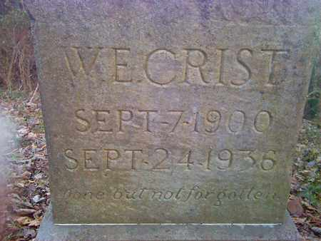 CRIST, W.E. - Fayette County, West Virginia | W.E. CRIST - West Virginia Gravestone Photos