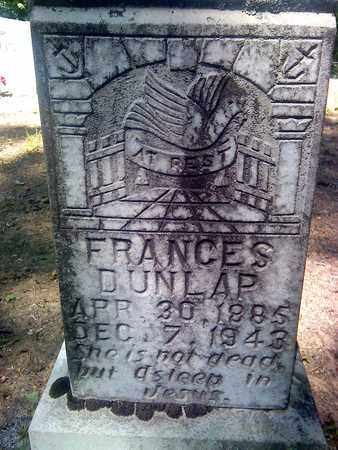 DUNLAP, FRANCES - Fayette County, West Virginia | FRANCES DUNLAP - West Virginia Gravestone Photos