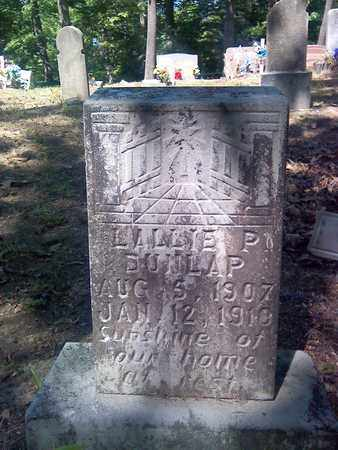 DUNLAP, LALLIE P - Fayette County, West Virginia | LALLIE P DUNLAP - West Virginia Gravestone Photos