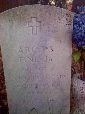 FINE, JR (VETERAN WWII), ARCH - Fayette County, West Virginia | ARCH FINE, JR (VETERAN WWII) - West Virginia Gravestone Photos