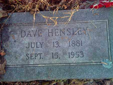 HENSLEY, DAVE - Fayette County, West Virginia | DAVE HENSLEY - West Virginia Gravestone Photos