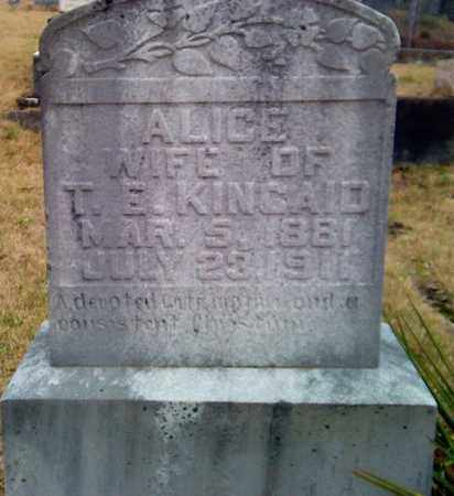 KINCAID, ALICE - Fayette County, West Virginia | ALICE KINCAID - West Virginia Gravestone Photos