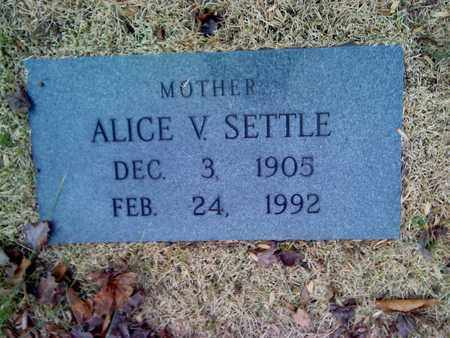 SETTLE, ALICE - Fayette County, West Virginia   ALICE SETTLE - West Virginia Gravestone Photos