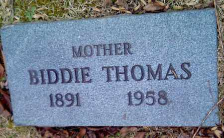 THOMAS, BIDDIE - Fayette County, West Virginia | BIDDIE THOMAS - West Virginia Gravestone Photos