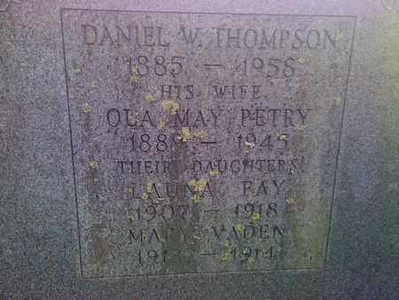 THOMPSON, MARY VADEN - Fayette County, West Virginia | MARY VADEN THOMPSON - West Virginia Gravestone Photos