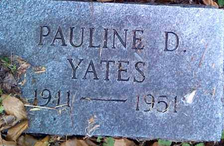 YATES, PAULINE D - Fayette County, West Virginia | PAULINE D YATES - West Virginia Gravestone Photos