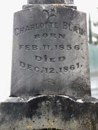 BLAIN, CHARLOTTE - Greenbrier County, West Virginia | CHARLOTTE BLAIN - West Virginia Gravestone Photos