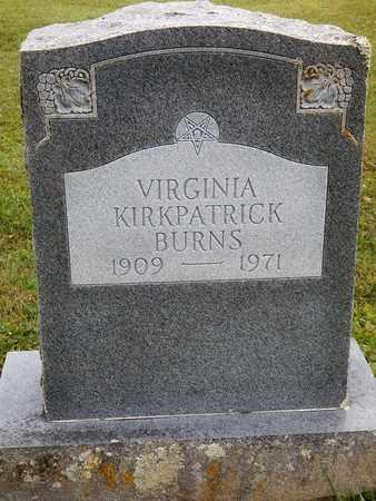 KIRKPATRICK BURNS, VIRGINIA LEDGEWOOD - Greenbrier County, West Virginia   VIRGINIA LEDGEWOOD KIRKPATRICK BURNS - West Virginia Gravestone Photos